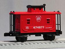 LIONEL JUNCTION PRR BOBBER CABOOSE O GAUGE train red wooden side 6-82972 C NEW