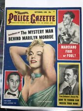 MARILYN MONROE 1955 Police Gazette Sept  Marilyn Monroe