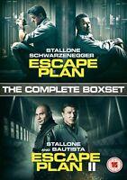 Escape Plan 1 + 2 Boxset [DVD] New Sealed UK Region 2 - Stallone Schwarzenegger