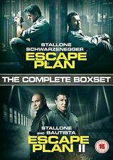 Escape Plan/Escape Plan II [DVD] boxset Stallone, Schwarzenegger Movies NEW