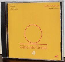 MODE 143 CD: Giacinto SCELSI - The Piano Works 2 - Stephen Clarke - USA 2005