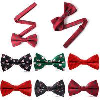Christmas Bow Tie Festival Santa Claus Snowflake Men's Fashion Bowtie Adjustable