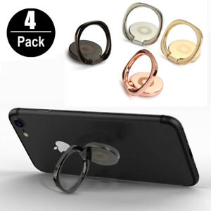 4-Pack Universal 360 Rotating Finger Ring Stand Holder For Cell Phone iPhone