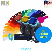 Selens FLash Speedlight Color Gels Filter With Band Grip SE-CG20 For Canon Nikon
