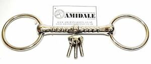 AMIDALE HORSE BIT MOUTHING / BREAKING BIT with PLAYERS KEYS TOP QUALITY S/S BNWT