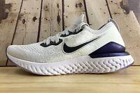 Nike Epic React Flyknit 2 Grey Purple Men's Running  Shoes CK0836 001 Size 7