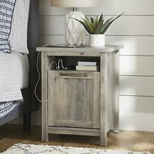 Better Homes & Gardens Modern Farmhouse USB Nightstand, Rustic Gray
