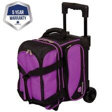Ebonite Transport Black/Purple 1 Ball Roller Bowling Bag