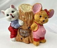 Vintage Sweet Hearts Figurine Kitten Mouse EU Darling Valentine couple