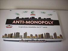 """RARE JEU DE SOCIETE """" ANTI-MONOPOLY  """" PAR UNIVERSITY GAMES COMPLET EN BOITE"""