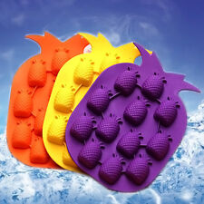 DIY Ananas Pattern Silicone Juice Ice Cube Tray Mould Maker Mold For Bar