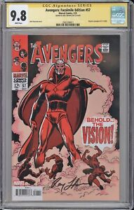Avengers Facsimile Edition 57 CGC SS 9.8 Roy Thomas signed 1st APPEARANCE VISION