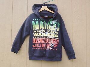 Bob Marley Wailers London Hoodie Sweatshirt Small Black Hope Road Music Zion