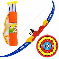 AvimaBasics Best Kids Archery Bow and Arrow Toy Set with Target Outdoor Garden