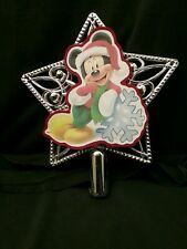 Disney inspired Mickey Mouse Christmas Tree Topper Ornament NEW Star top