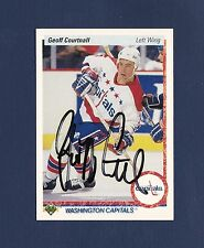 Geoff Courtnall signed Washington Capitals 1990-91 Upper Deck hockey card