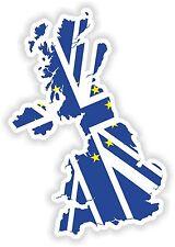 UK bandera de la etiqueta engomada de la Unión Europea Mapa Reino Unido para casco de Puerta Parachoques portátil