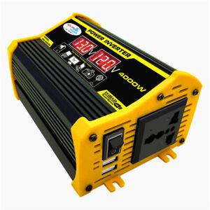 4000W Car Solar Power Inverter Modified Sine Wave DC12V to AC110V 220V Off Grid