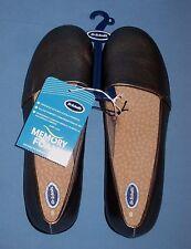 Dr Scholls Women Truly Casual Flats Shoes Pewter Metallic Memory Foam Size 8!