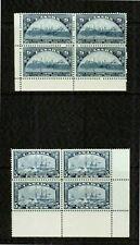 CANADA  1933 (2) -PARLIAMENT & ROYAL WILLIAM  BLOCKS OF 4 - VF**