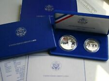 1986 Proof Statue of Liberty 2 Coin Silver Dollar and Clad Half US Mint Set