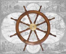 Schiffssteuerrad aus Hartholz Ø 78cm Hochwertig gearbeitetes Steuerrad