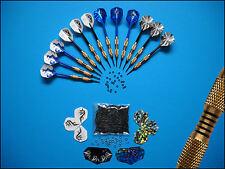 12 Soft - Dart - Pfeile *Blue Ocean* + Zubehör