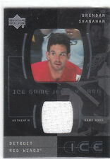 2000 UD Ice Game Jersey Card Brendan Shanahan Red Wings