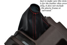 RED STITCHING FITS HONDA ACTY TN REAL LEATHER GEAR GAITER