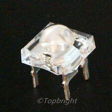 100 PCS5mm 8Kmcd Common Anode Super Flux RGB LED F/R
