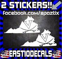 "RIVAH Northern Neck  Virginia Oval car window bumper sticker decal 5/"" x 3/"""