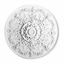 Ceiling Medallion 37 inch White round R64 Orac Decor canopy dome big large rose