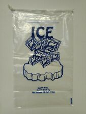 8 lb lbs Ice Bags with Drawstring