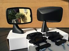triumph Tex Style Door Mirrors , Black Finish Complete With Fix Kit
