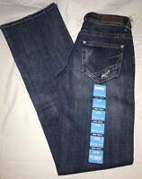 ROCK &N ROLL COWBOY Women's Denim Mid-Rise Riding Boot Cut Jeans W7-6666 NWT