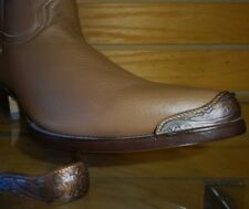 New Copper colored Cowboy Western Boot Tips Toe and Heel Plates Pointy J toe