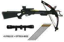 Balestra professionale 150 libbre fibra di carbonio + 5 frecce + Ottica 4x32