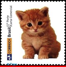 3258-09 BRAZIL 2013 FAUNA, CAT, CATS, STAMP PERSONALIZED MNH