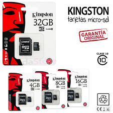 TARJETA MEMORIA MicroSD KINGTON camara movil 4 8 16 32 GB clase 10 ORIGINAL