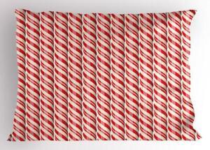 Candy Cane Pillow Sham Decorative Pillowcase 3 Sizes for Bedroom Decor