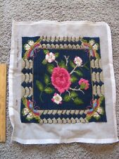 Floral Needlepoint Canvas - Finished Floral Bloom Blossoms Butterfly