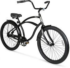 26 Mens Beach Cruiser Bike Vintage Bicycle Comfort Seat Outdoor Cycling Black