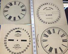 Vintage Clock Face Dial Paper 75 Plus! Calendar Clock Face Reference Book