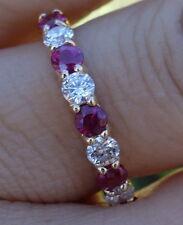 .45ct Diamond .55 carat ruby diamond wedding anniversary band