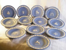 """Full Complete Set of """"Wedgwood Blue Jasper"""" Ware Sign's of the Zodiac all 12 !!!"""