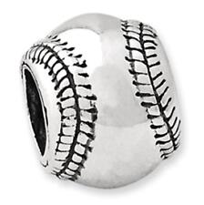Sterling Silver Reflections Baseball Bead (4mm Diameter Hole)