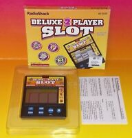 Radio Shack Deluxe 2 Player Slot Electronic Handheld Game Tested & Working