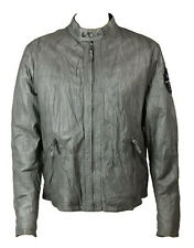 Armani Jeans Men's Leather Jacket Grey (AJJK001)