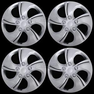 "15"" Set of 4 Wheel Covers Snap On 5 Spoke Full Hub Caps fit R15 Tire & Steel Rim"