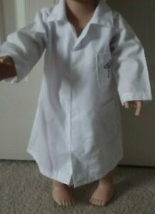 White Doctor's Coat Jacket for 18 inch American Girl OR Our Generation Dolls